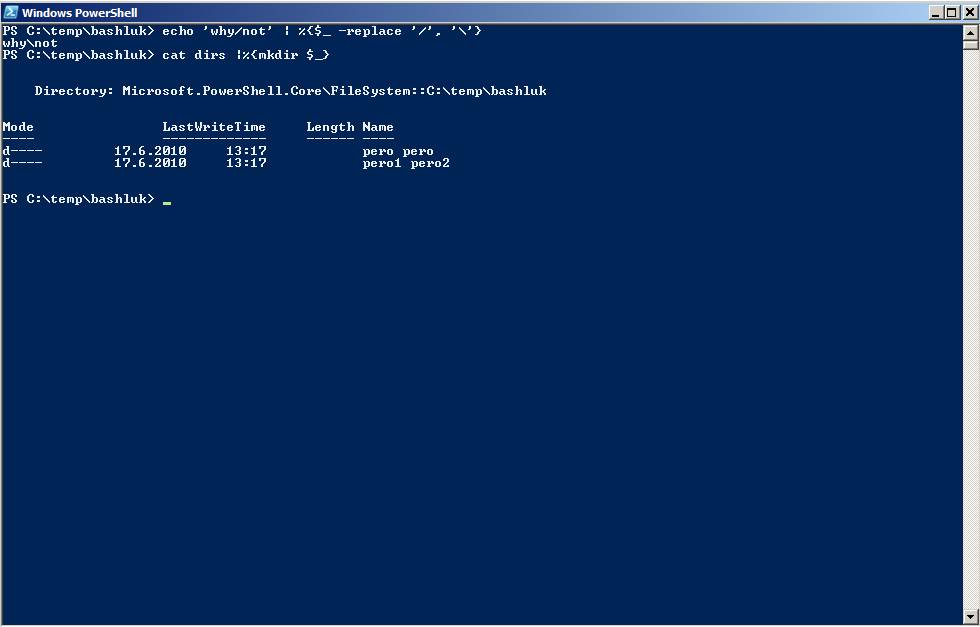 PowerShell tips for bash users, part 1 • Five